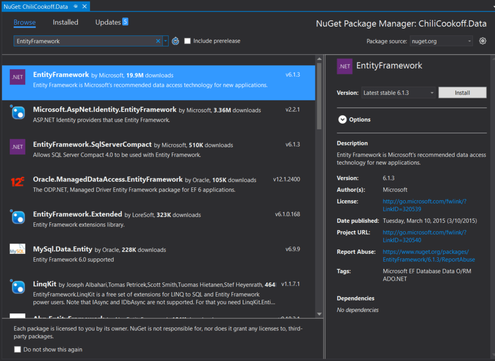 Getting Started with Entity Framework 6 Code First