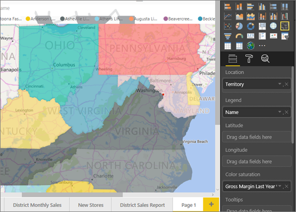 power bi filled map